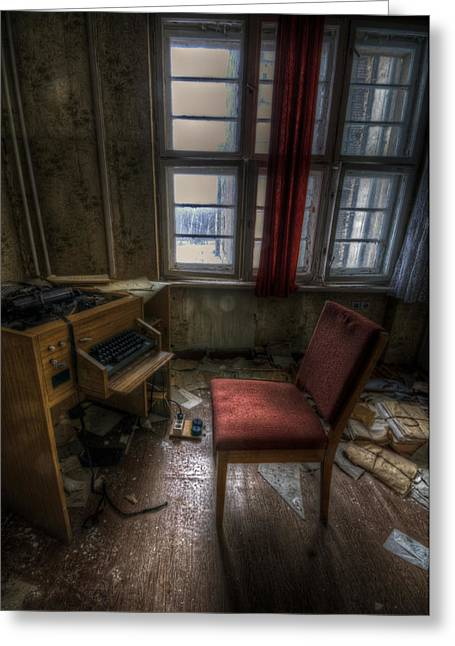 Creepy Digital Art Greeting Cards - Sectary seat Greeting Card by Nathan Wright