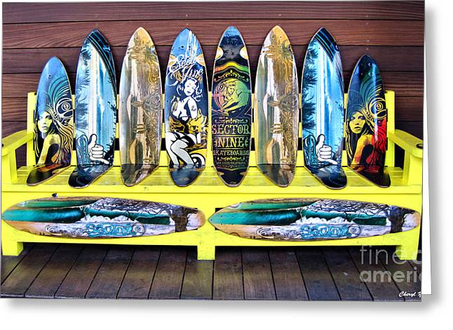 Long Boards Greeting Cards - Sector Nine Skateboards Greeting Card by Cheryl Young