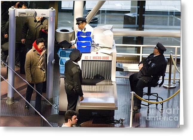 Terrorism Greeting Cards - Security Checks At D.c. Museum Greeting Card by Mark Williamson