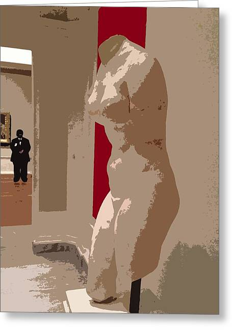 Illustration Sculptures Greeting Cards - Security Guard Greeting Card by Julio R Lopez Jr