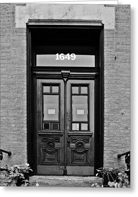Red Doors Greeting Cards - Sedgwick Street Old Town Chicago Greeting Card by Christine Till