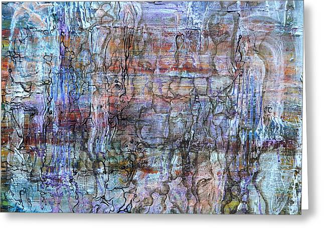 Layers Reliefs Greeting Cards - Sediments Greeting Card by Regina Valluzzi