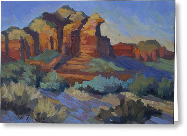 Sedona Greeting Cards - Sedona Afternoon Light Greeting Card by Diane McClary