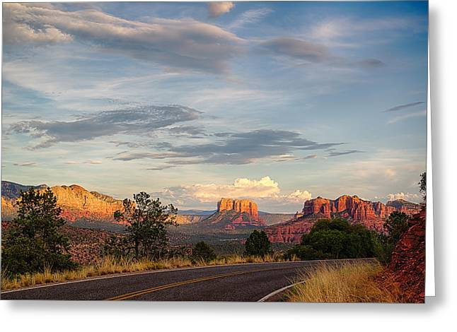 Sedona Arizona Allure Of The Red Rocks - American Desert Southwest Greeting Card by Silvio Ligutti