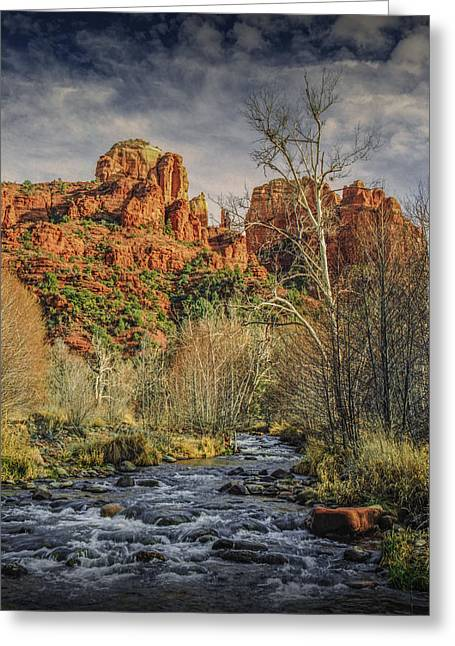 Cathedral Rock Greeting Cards - Sedona Arizona by Cathedral Rock Greeting Card by Randall Nyhof