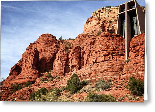 Oak Creek Greeting Cards - Sedona Arizona - Church of the Holy Cross Greeting Card by Jon Berghoff