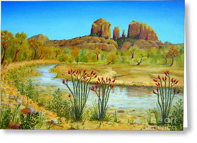 Cathedral Rock Greeting Cards - Sedona Arizona Greeting Card by Jerome Stumphauzer