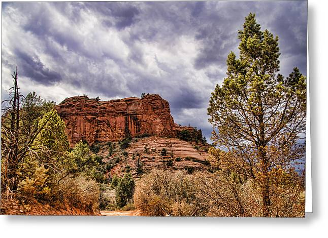 Oak Creek Greeting Cards - Sedona Arizona Mountain Scenery Greeting Card by Jon Berghoff
