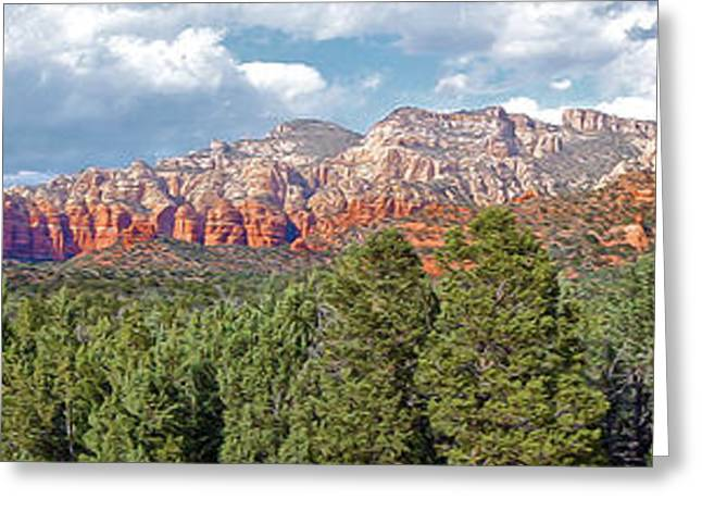 Sedona Arizona Panorama - 02 Greeting Card by Gregory Dyer