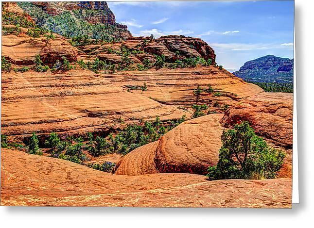 Oak Creek Greeting Cards - Sedona Arizona Scenery Greeting Card by Jon Berghoff