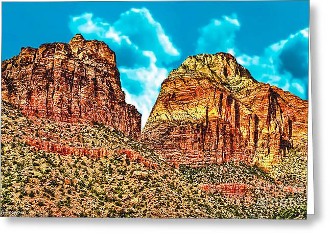 Oak Creek Greeting Cards - Sedona Arizona Secret Mountain Wilderness Greeting Card by  Bob and Nadine Johnston