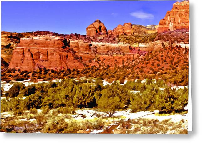Red Rock Crossing Greeting Cards - Sedona Arizona Secret Mountain Wilderness Greeting Card by  Bob and Nadine Johnston