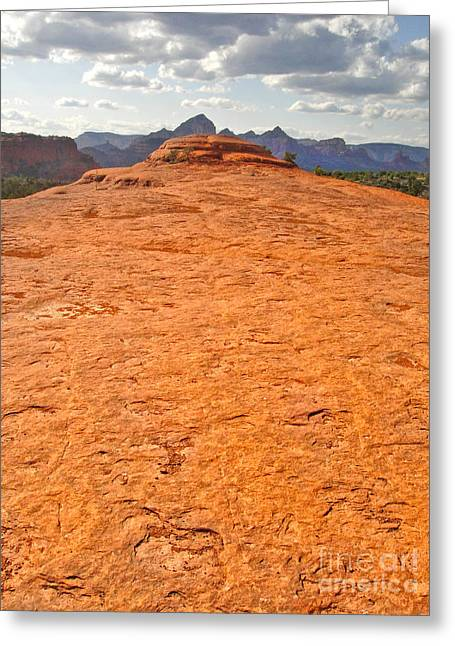 Sedona Arizona Submarine Rock Greeting Card by Gregory Dyer