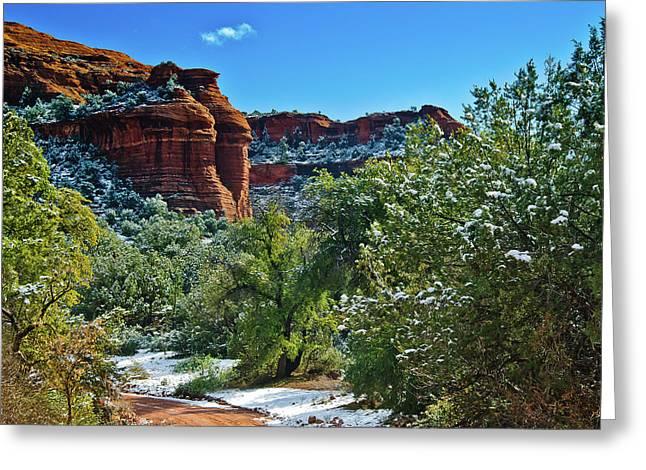 Oak Creek Digital Greeting Cards - Sedona Arizona - Wilderness Area Greeting Card by  Bob and Nadine Johnston