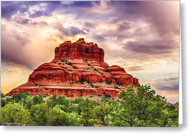 Nadine Greeting Cards - Sedona Bell Rock Vortex in Spring Greeting Card by  Bob and Nadine Johnston