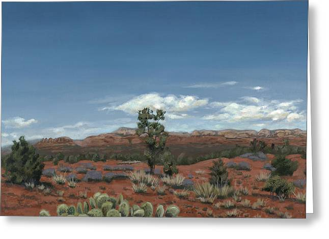 Edward Williams Greeting Cards - Sedona Cactus AZ Greeting Card by Edward Williams