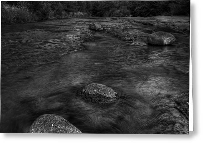 Sedona Cathedral Rock Black and White Greeting Card by Dave Dilli