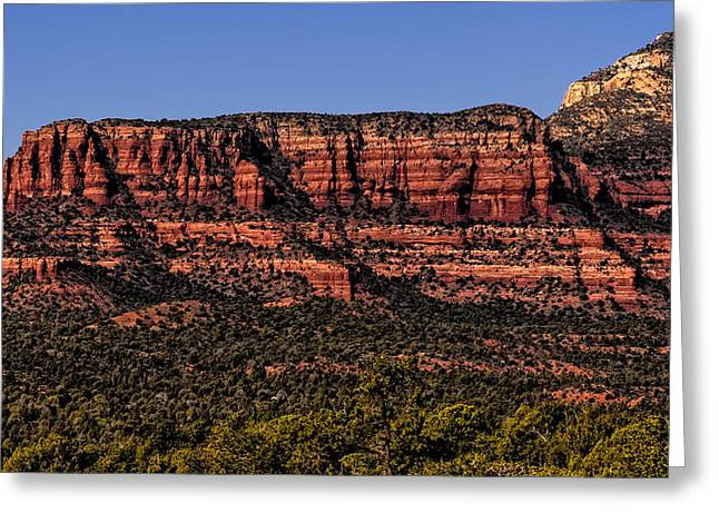 Beauty Mark Greeting Cards - Sedona Fortress Greeting Card by Mark Myhaver