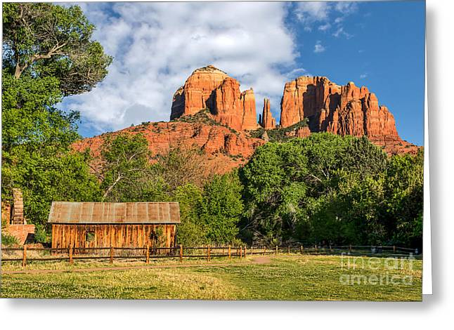 Red Rock Crossing Greeting Cards - Sedona Landmark  Greeting Card by Tod and Cynthia Grubbs