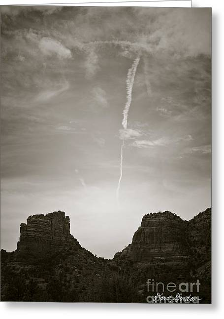 Elevation Digital Art Greeting Cards - Sedona Landscape No. 4 Greeting Card by David Gordon