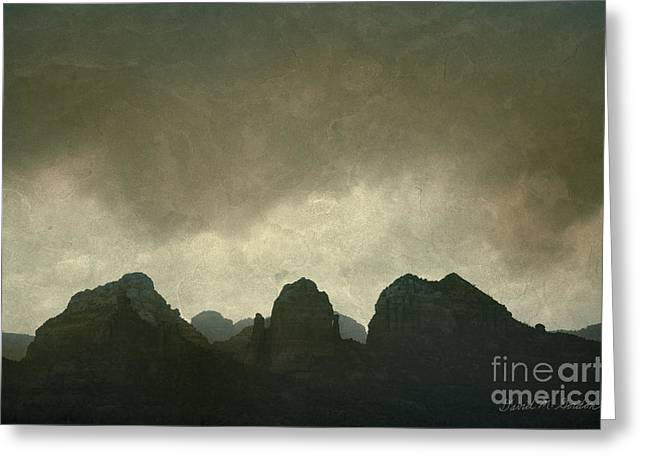 Elevation Digital Art Greeting Cards - Sedona Landscape No. 6 Greeting Card by David Gordon