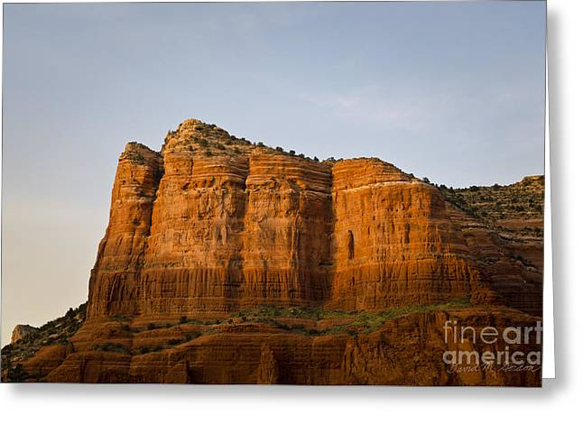 Sedona Landscape Viii Greeting Card by Dave Gordon