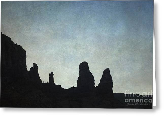 Elevation Digital Art Greeting Cards - Sedona Landscape XIII Greeting Card by David Gordon