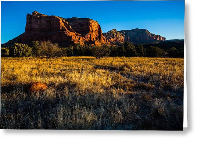 Sedona Light Greeting Card by Bill Cantey