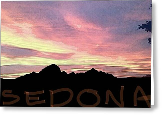 Sunset Greeting Cards Greeting Cards - Sedona Postcard Greeting Card by Rebecca Griffin