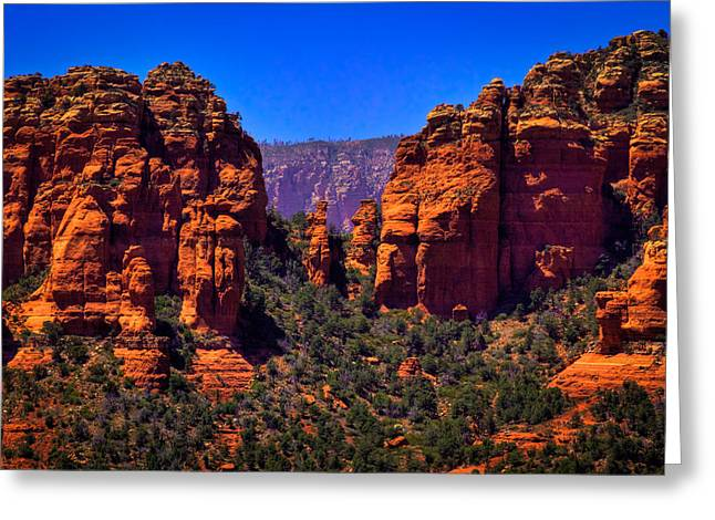 David Patterson Greeting Cards - Sedona Rock Formations II Greeting Card by David Patterson
