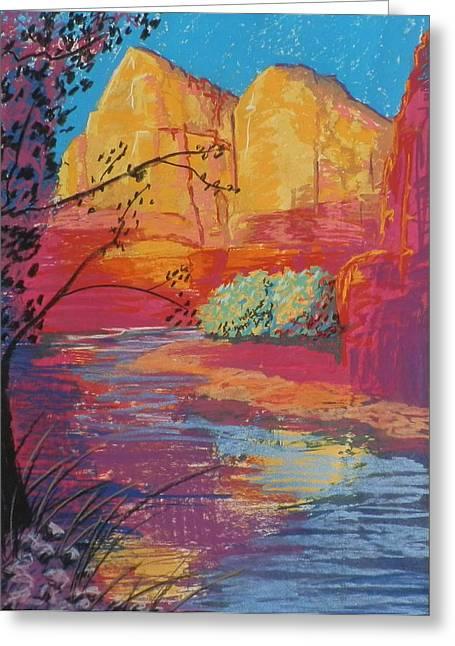 Sedona Sunrise Greeting Card by Jann Elwood