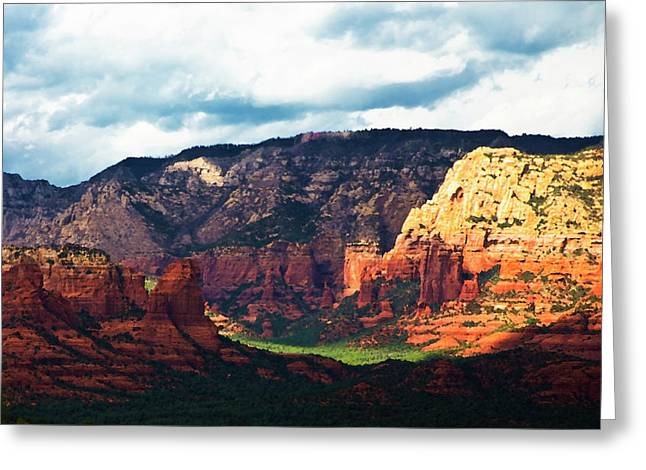 Barbs Greeting Cards - Sedona Valley  Greeting Card by Gilbert Artiaga