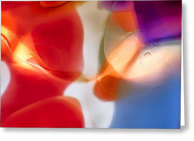 Shiny Glass Art Greeting Cards - Seduction Greeting Card by Omaste Witkowski
