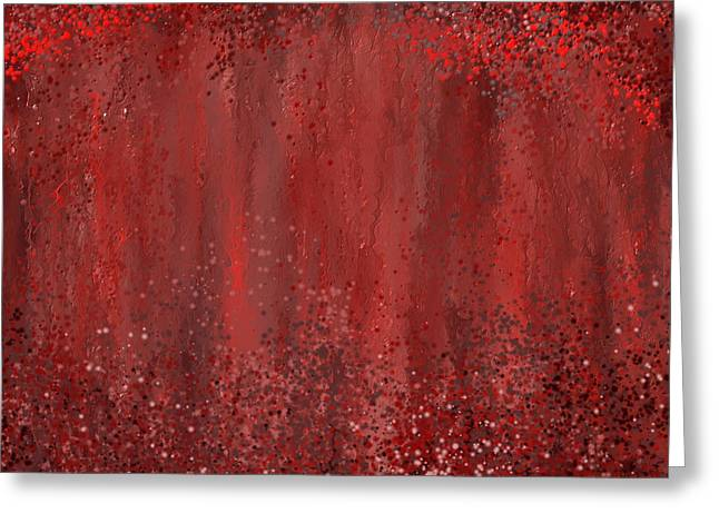 Red Art Greeting Cards - Seductive Embrace- Marsala art Greeting Card by Lourry Legarde