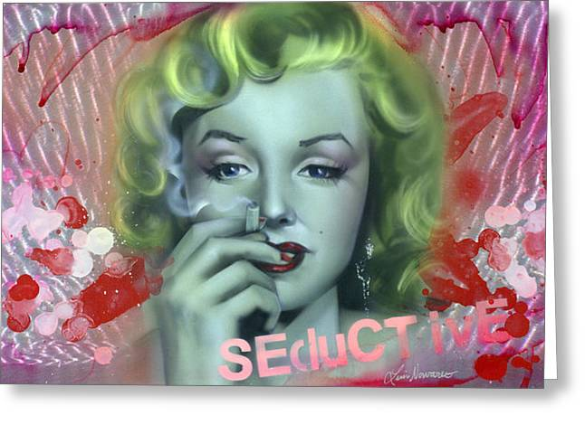 Feisty Greeting Cards - Seductive Greeting Card by Luis  Navarro