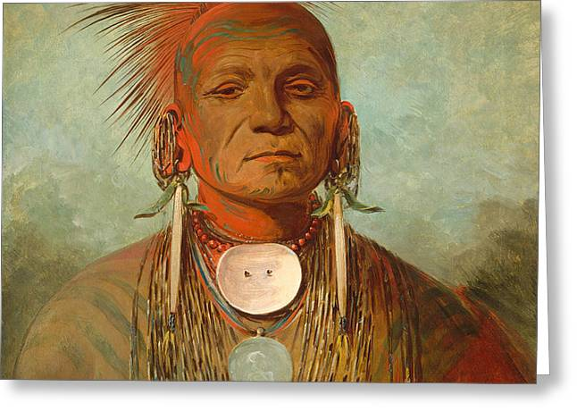 See non ty a an Iowa Medicine Man Greeting Card by George Catlin