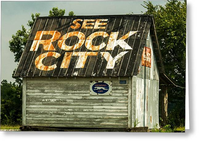 Cities Seen Greeting Cards - See Rock City Advertisement Greeting Card by Douglas Barnett