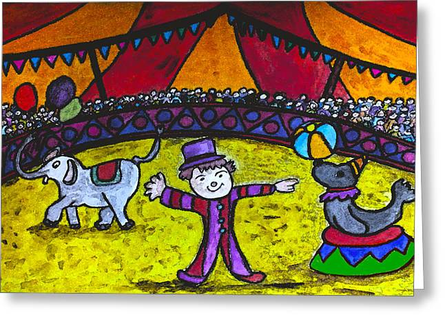 See The Show Greeting Card by Monica Engeler