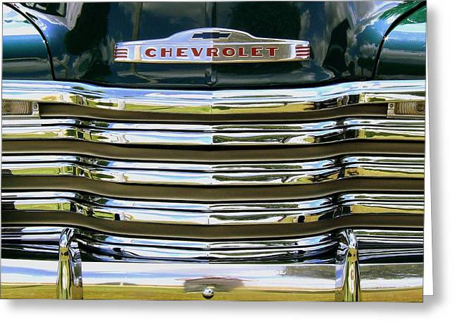 Chevrolet Pickup Truck Greeting Cards - See the USA... Greeting Card by Claude Oesterreicher