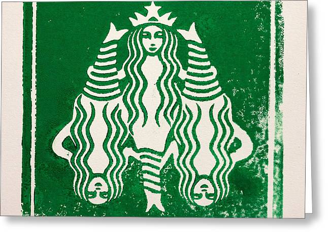 Coffee Prints Greeting Cards - See The Whole Picture Greeting Card by Igor Kislev