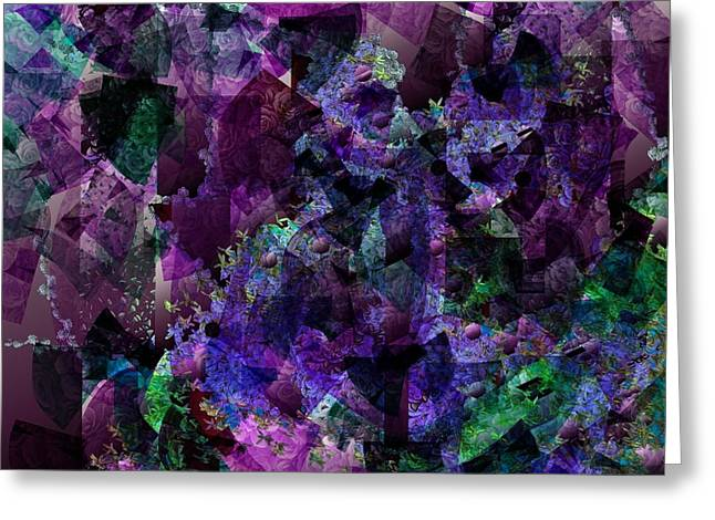 Nature Abstract Tapestries - Textiles Greeting Cards - See Through Greeting Card by Claire Masters