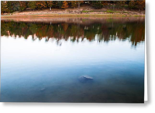 Alabaster Greeting Cards - Colors by the Lake Greeting Card by Shelby  Young