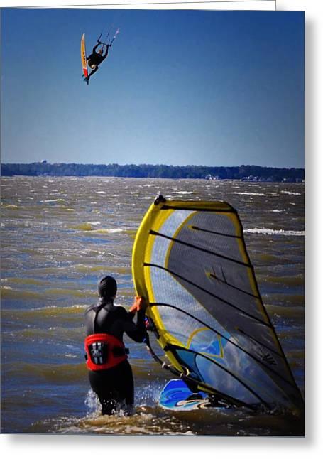Kite Boarding Greeting Cards - See Ya Roun Greeting Card by Robert McCubbin