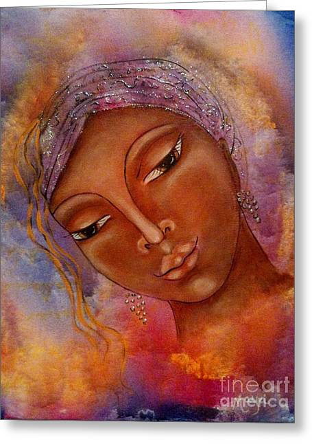 Religious Mixed Media Greeting Cards - See You In Your Dreams Greeting Card by Maya Telford