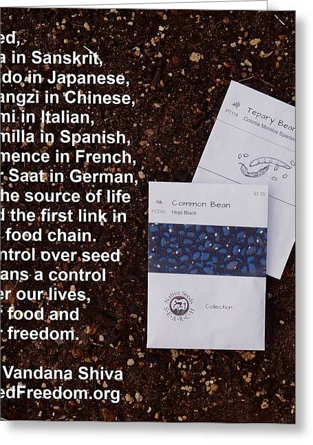 Local Food Greeting Cards - Seed Freedom Greeting Card by Jon Simmons