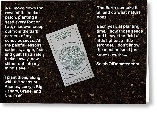 Local Food Greeting Cards - Seed Therapy Greeting Card by Jon Simmons
