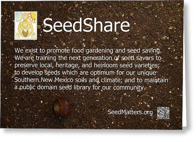 Local Food Greeting Cards - SeedShare Greeting Card by Jon Simmons