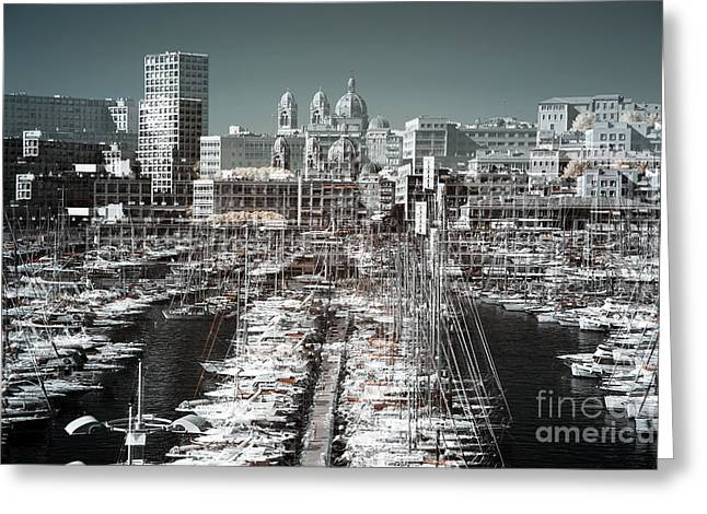 Seeing Double in the Port Greeting Card by John Rizzuto