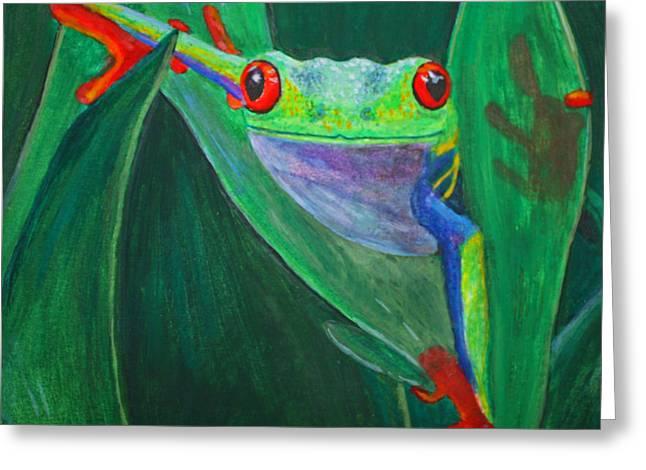 Terri Waters Paintings Greeting Cards - Seeing Eye To Eye Greeting Card by Terri Maddin-Miller