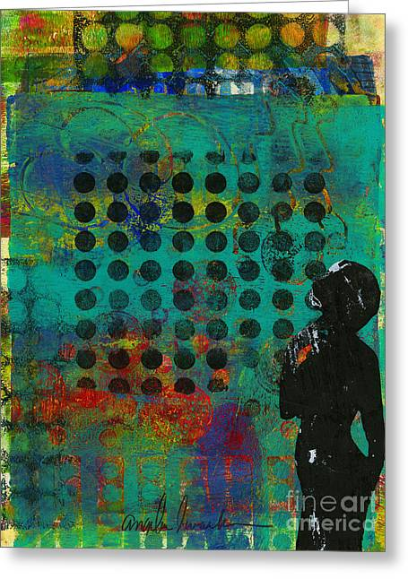 Printing Mixed Media Greeting Cards - Seeing LIFE on the Other Side Greeting Card by Angela L Walker